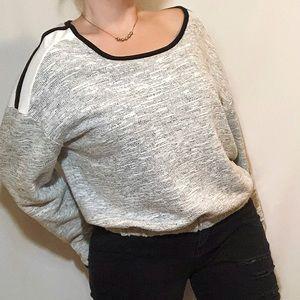 Revolution by Ricki's wide neck short sweater